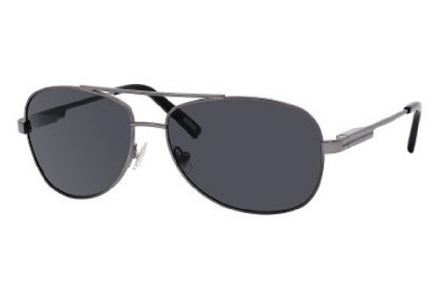 Fossil Jaxson//S 003P RC Matte Black Grey Aviator Polarized Sunglasses