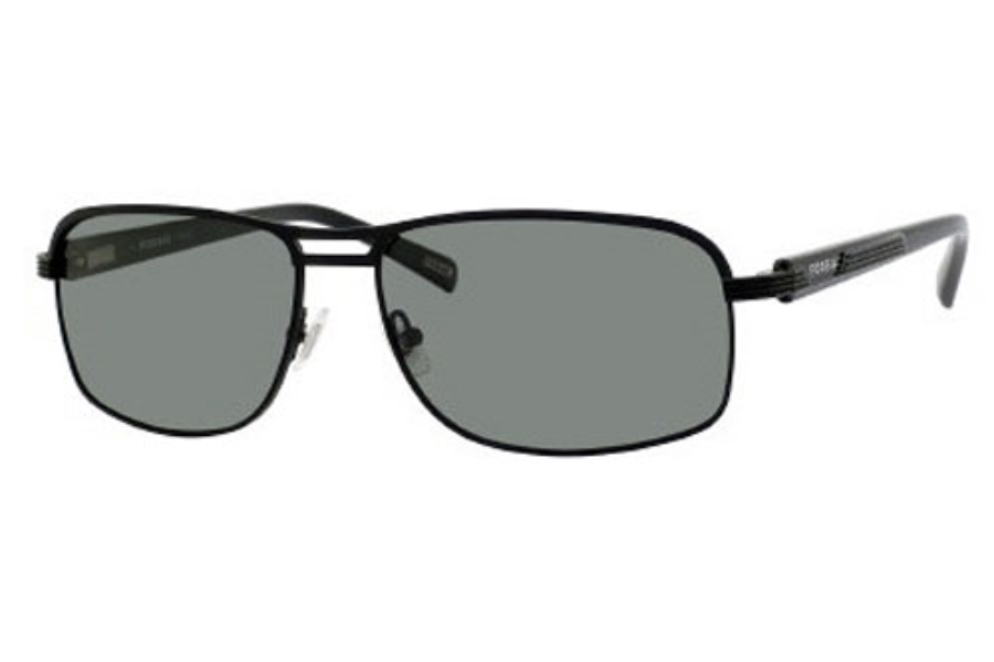 Fossil MARIO/S Sunglasses in C1KP Matte Black (RC green polarized lens)