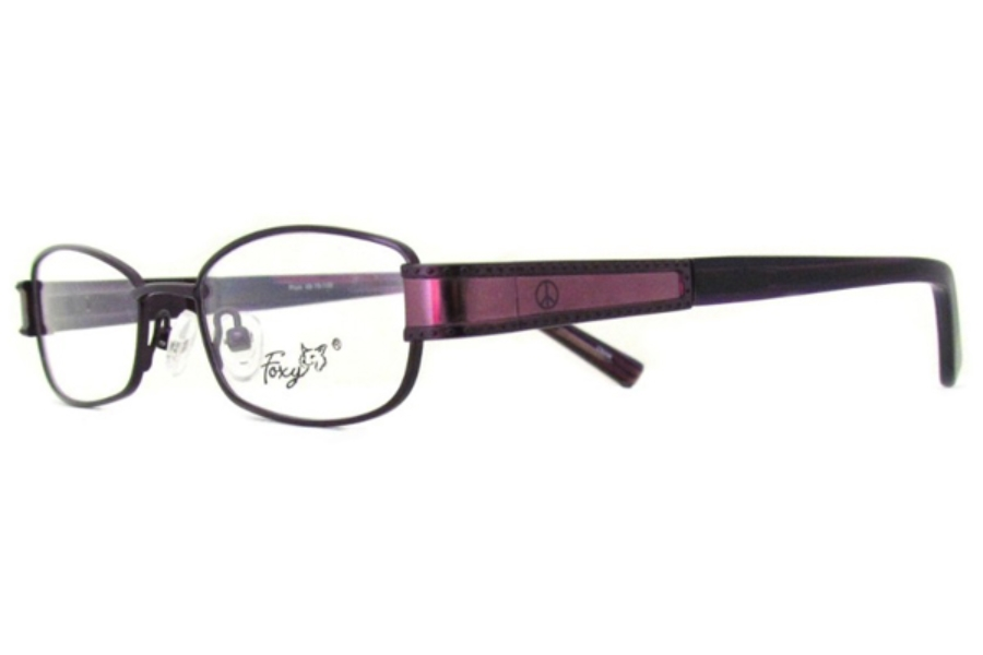 Foxy Peace Out Eyeglasses in Plum