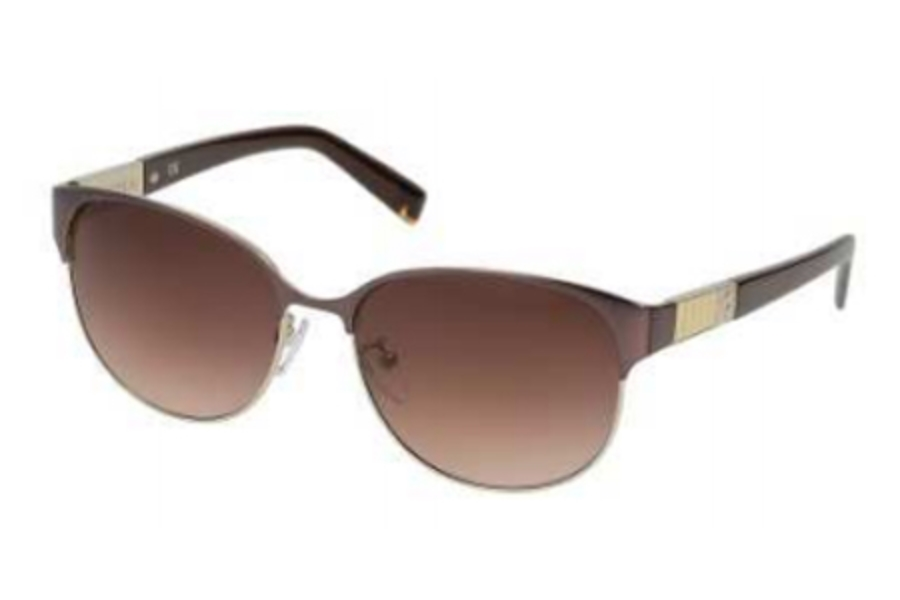 Furla SU 4289 Sunglasses in A75 Brown-Leather/Gradient Brown Lens