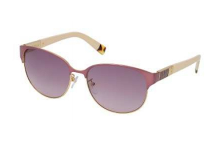 Furla SU 4289 Sunglasses in E66 Burgundy-Leather/Gradient Grey Lens