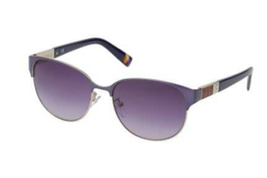Furla SU 4289 Sunglasses in E70 Blue-Leather/Gradient Blue Lens