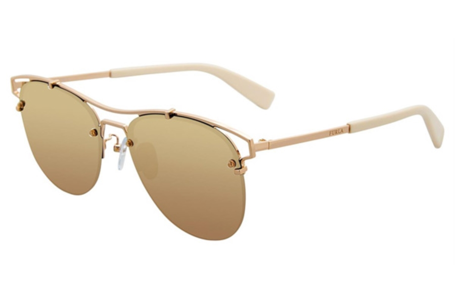 Furla SFU106 Sunglasses in Gold 300G