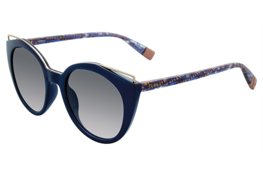 Furla SFU153 Sunglasses in Blue 03GR