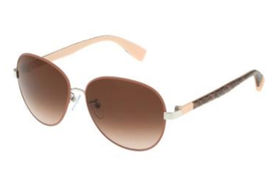 Furla SU 4315 Sunglasses in 0A75 Shiny Palladium-Brown/Gradient Brown