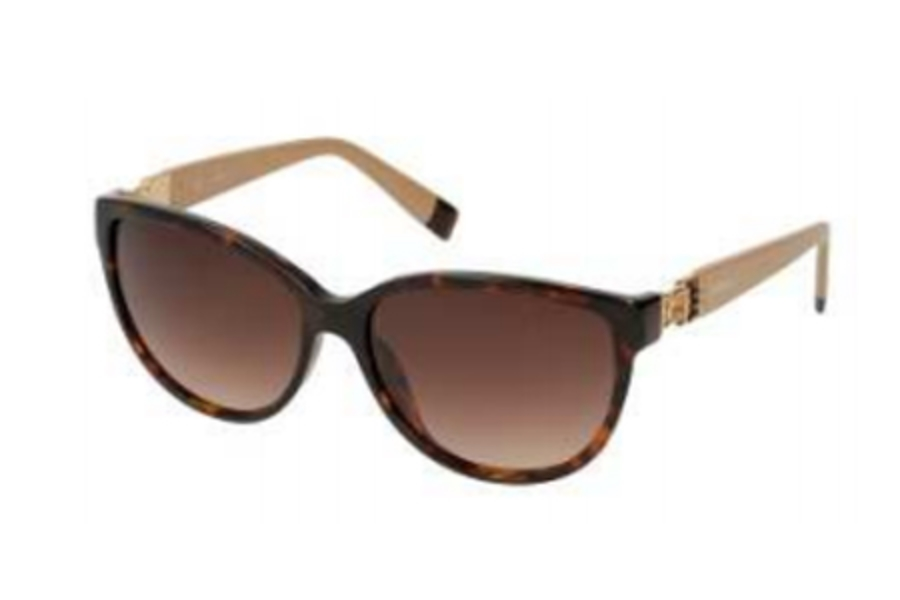 Furla SU 4856S Sunglasses in 722 Havana-Topaz/Gradient Brown Lens