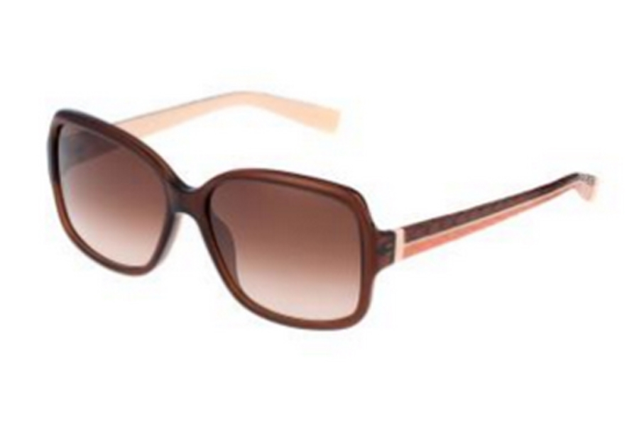 Furla SU 4906 Sunglasses in 0V72 Shiny Transparent Brown-Python/Gradient Brown