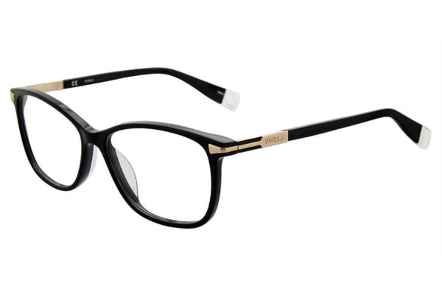 Furla VFU026 Eyeglasses in Black 700Y