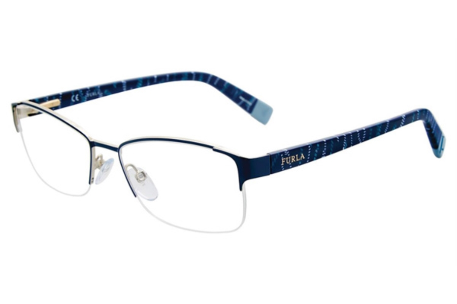 Furla VFU078 Eyeglasses in Blue 02N9