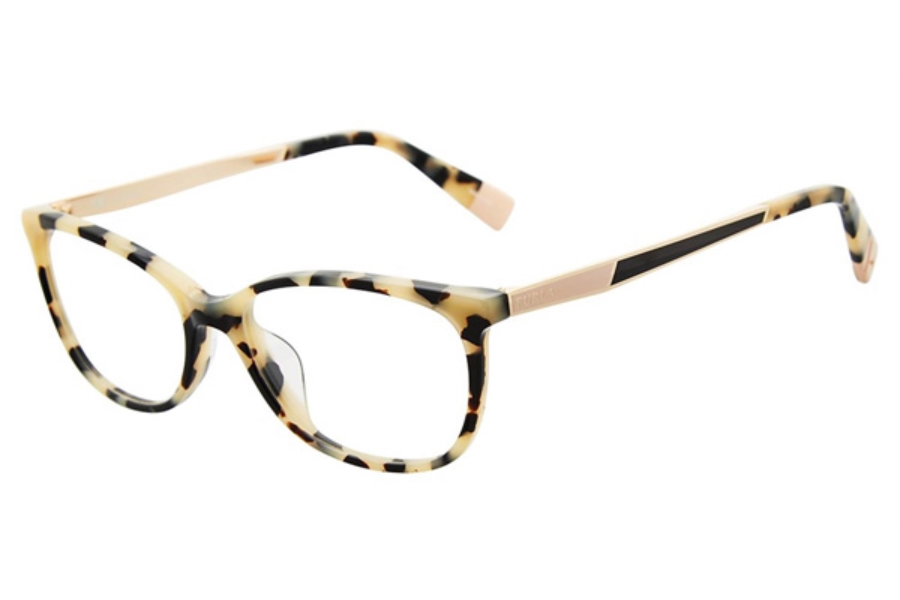Furla VFU089 Eyeglasses in White Tortoise