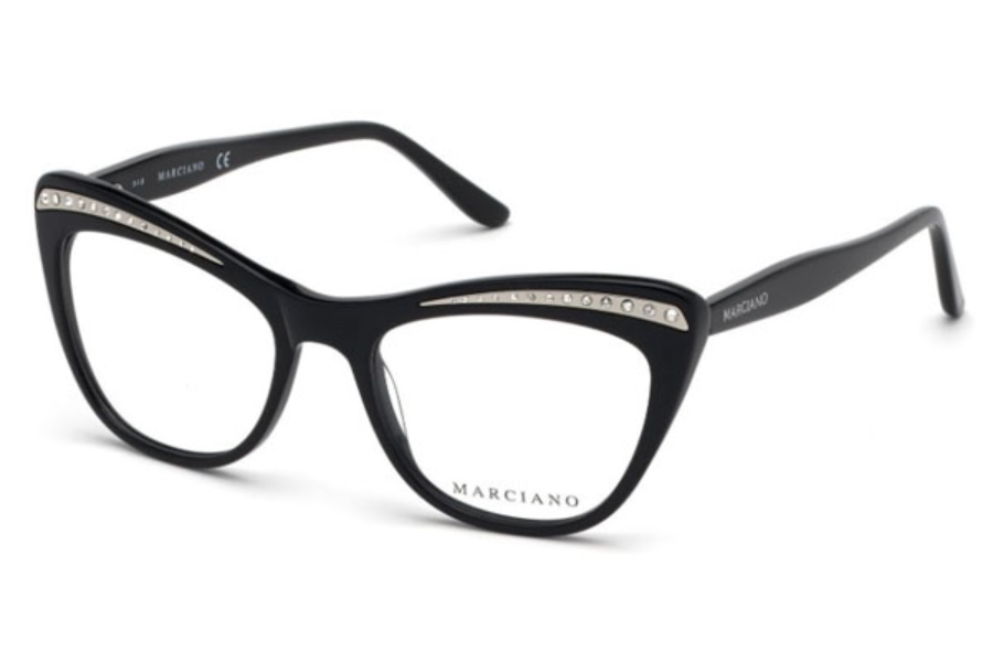 Guess by Marciano GM 337 Eyeglasses in 001 - Shiny Black