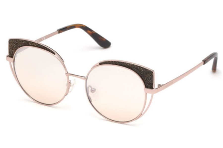 Guess by Marciano GM 796 Sunglasses in 28Z - Shiny Rose Gold / Gradient