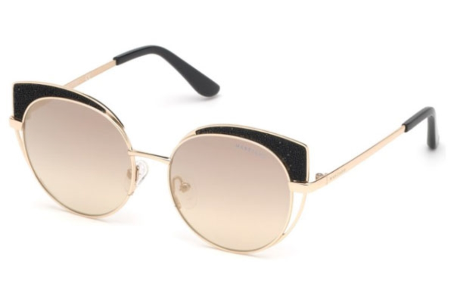 Guess by Marciano GM 796 Sunglasses in 32C - Gold / Smoke Mirror