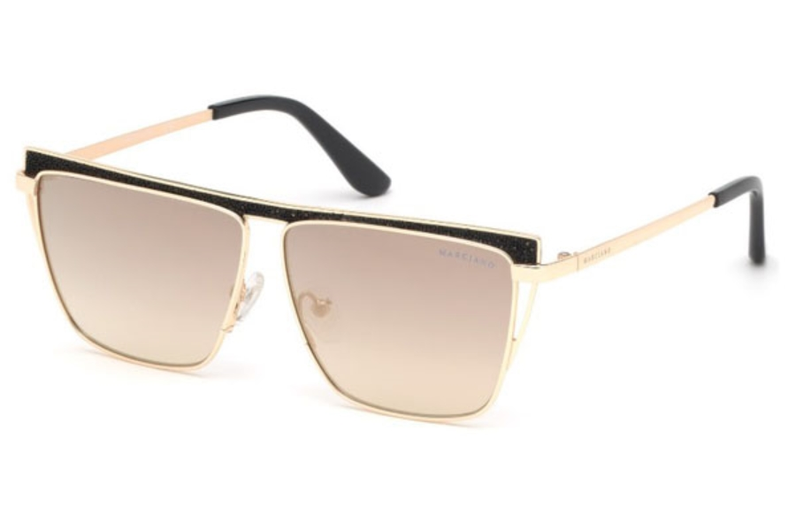 Guess by Marciano GM 797 Sunglasses in 32C - Gold / Smoke Mirror