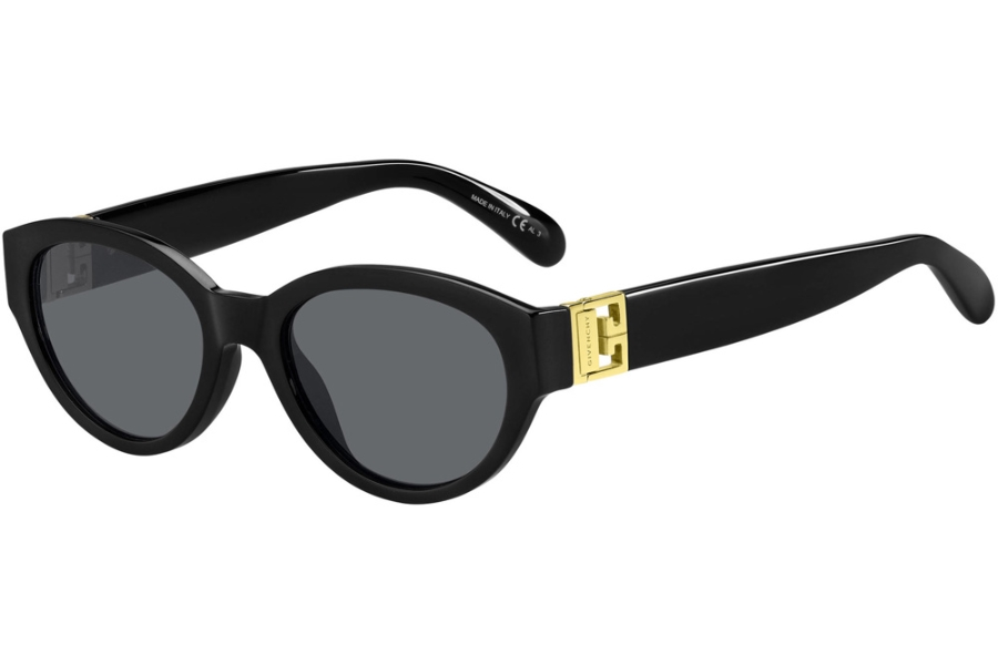 GIVENCHY GV 7143/S Sunglasses in 0807 Black (IR Gray Blue)