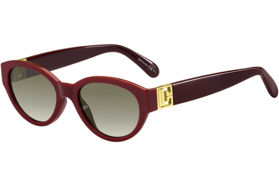 GIVENCHY GV 7143/S Sunglasses in 0LHF Opal Burgundy (HA Brown Gradient)