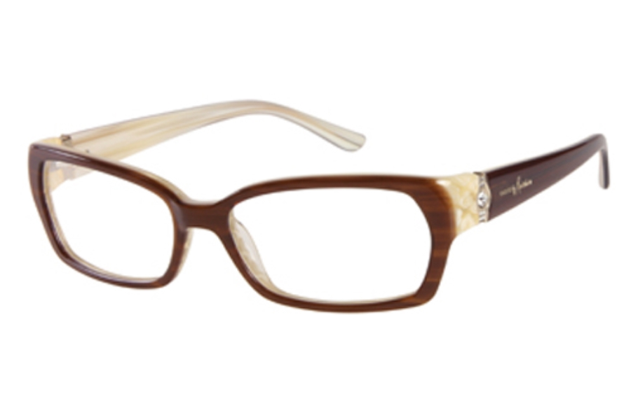 Guess by Marciano GM 183 (GM0183) Eyeglasses in E47 BRNBE Brown/Bone