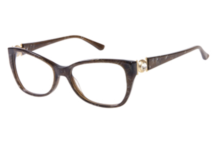 Guess by Marciano GM 197 Eyeglasses in D96 BRN: Brown