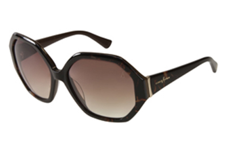 Guess by Marciano GM 659 Sunglasses in BRNTO-34 Brown/Tort