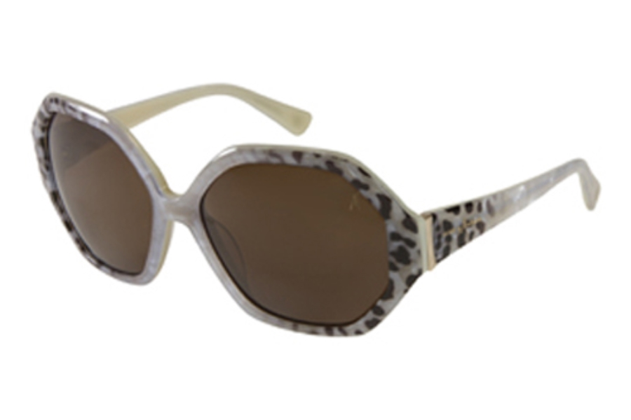 Guess by Marciano GM 659 Sunglasses in CRM-1 Cream/Leopard