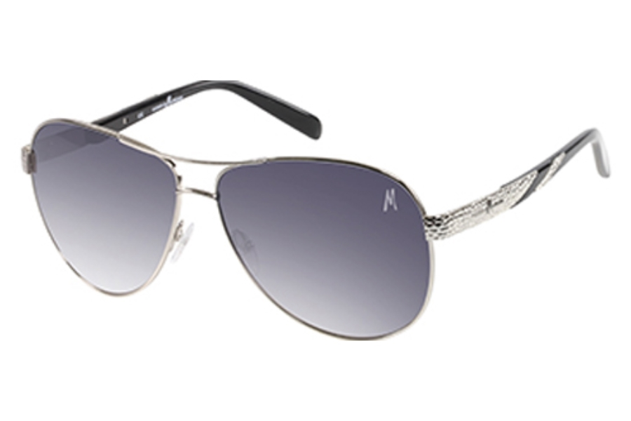 Guess by Marciano GM 697 Sunglasses in Si-35: Shiny Silver