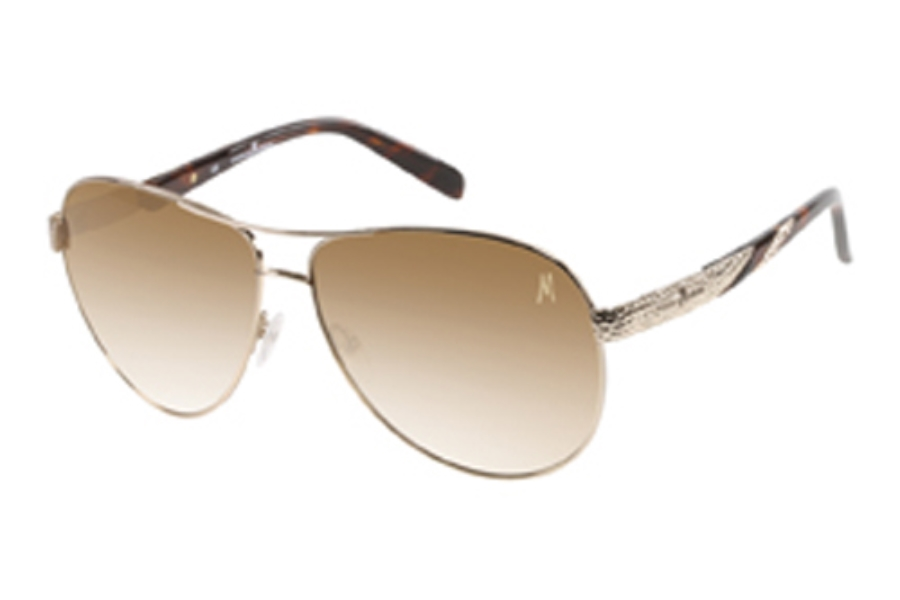 Guess by Marciano GM 697 Sunglasses in To-34: Shiny Gold