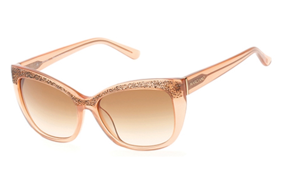 Guess by Marciano GM 730 Sunglasses in 45F Shiny Light Brown / Gradient Brown