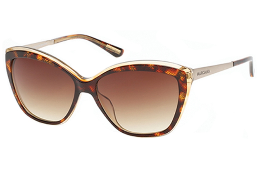 Guess by Marciano GM 738 Sunglasses in 50F Dark Brown/Other / Gradient Brown