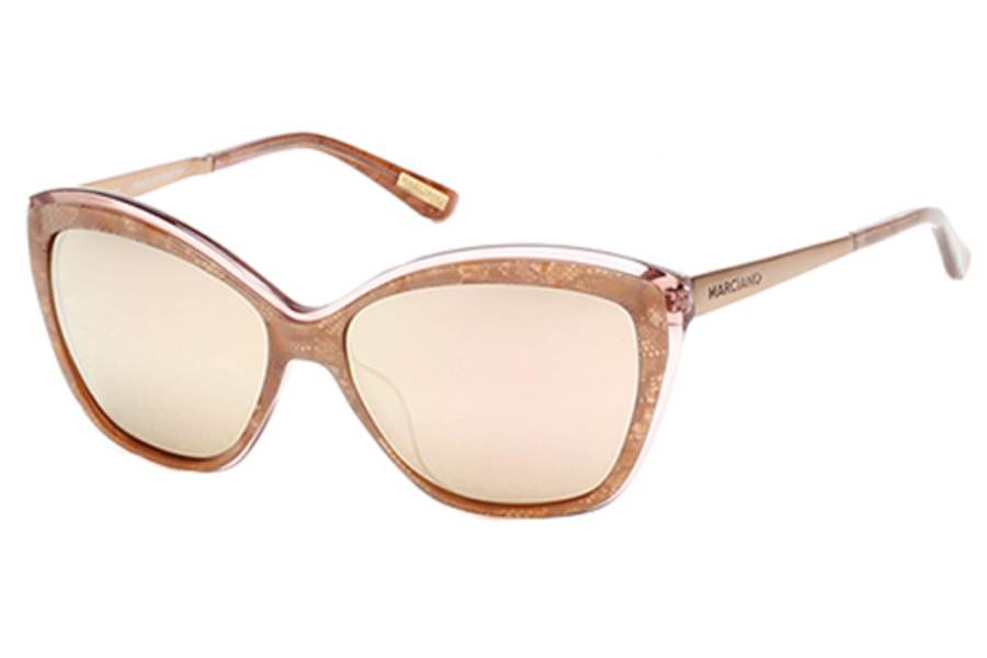 Guess by Marciano GM 738 Sunglasses in 74Z Pink /Other / Gradient Or Mirror Violet