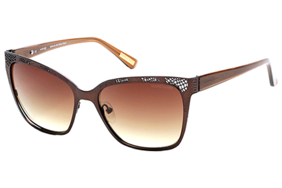 Guess by Marciano GM 742 Sunglasses in 49F Matte Dark Brown / Gradient Brown