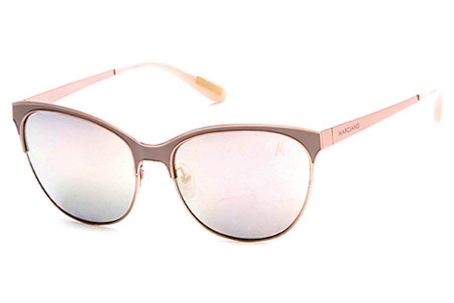 Guess by Marciano GM 750 Sunglasses in 57G - Shiny Beige / Brown Mirror