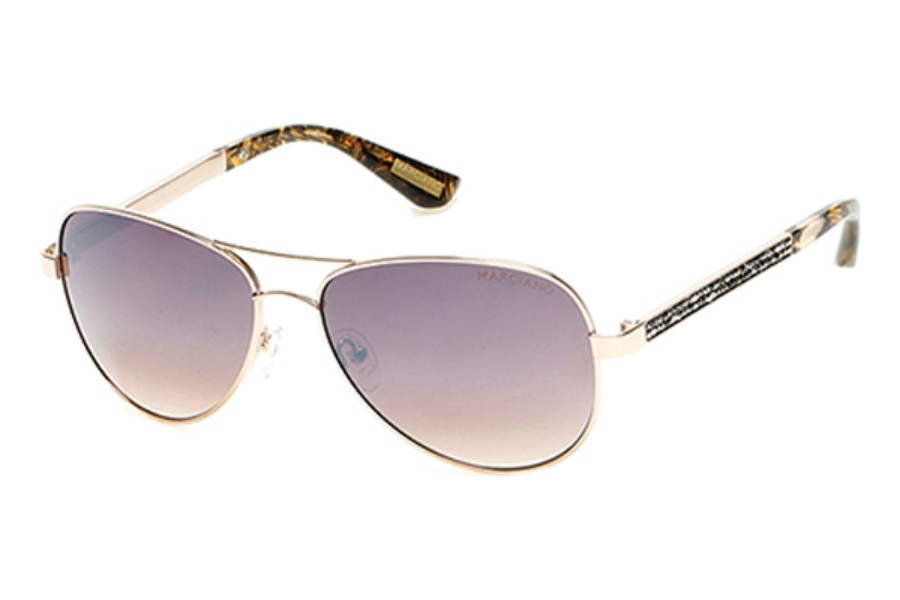 Guess by Marciano GM 754 Sunglasses in 32G - Gold / Brown Mirror