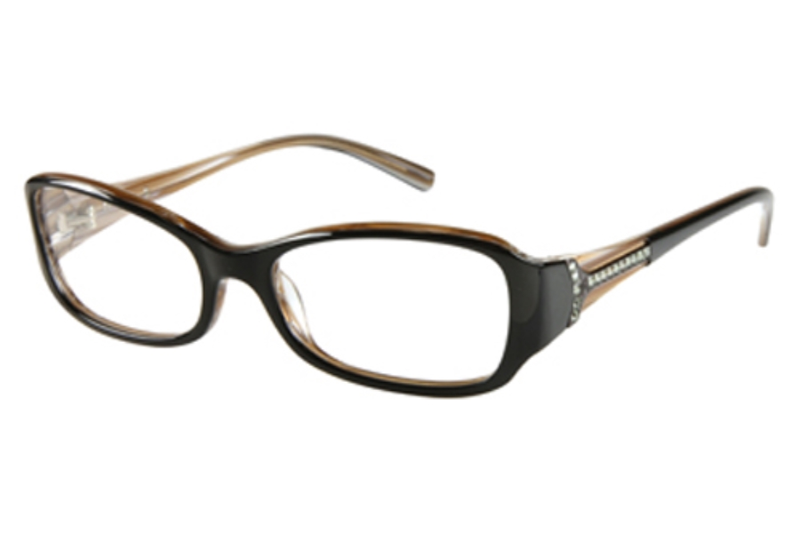 Guess by Marciano GM 142 Eyeglasses in BLK: BLACK/BROWN