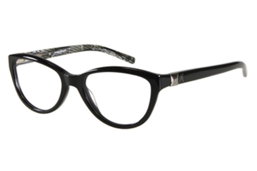Guess by Marciano GM 161 Eyeglasses in BKWHT: BLACK/WHITE