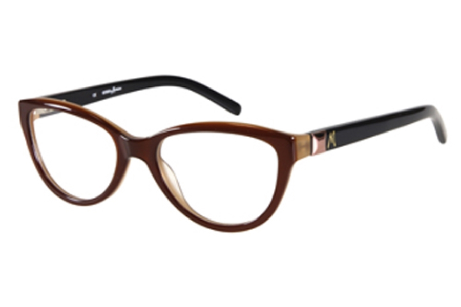 Guess by Marciano GM 161 Eyeglasses in BRNAMB: BROWN/AMBER