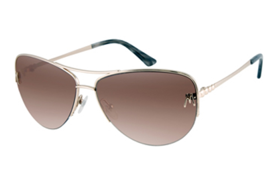 Guess by Marciano GM 627 Sunglasses in SHINY GOLD w/Brown Gradient Lenses - (/34)