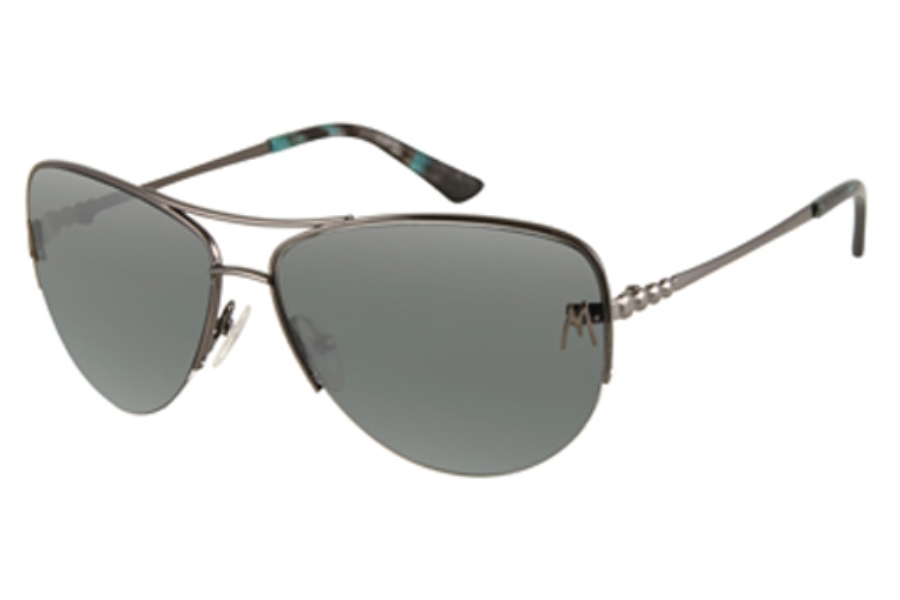 Guess by Marciano GM 627 Sunglasses in DARK GUNMETAL w/Grey-Blue Gradient Lenses - (/33)