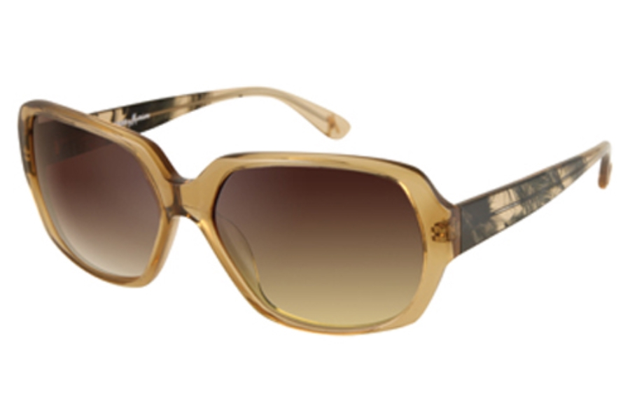 Guess by Marciano GM 629 Sunglasses in BEIGE CRYSTAL w/Gold Gradient Lenses - (/89)