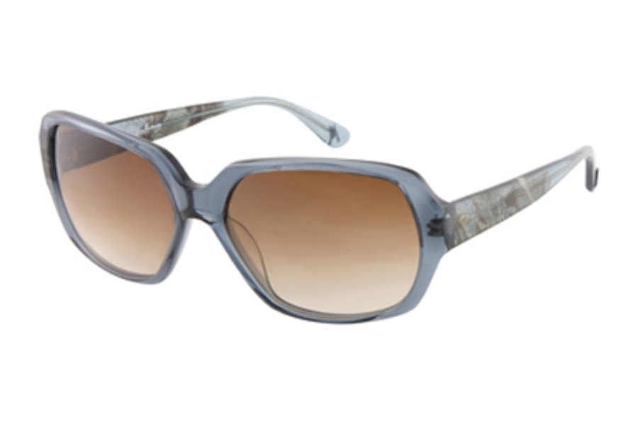 Guess by Marciano GM 629 Sunglasses in NAVY BLUE CRYSTAL w/Brown-Blue Gradient Lenses - (/73)