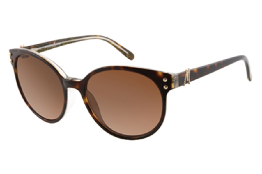 Guess by Marciano GM 635 Sunglasses in TORTOISE/GOLD GLITTER w/Brown Lenses - (/1)