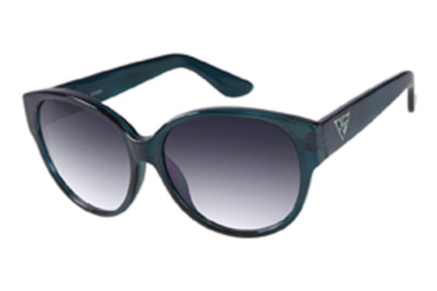 Guess GU 7221 Sunglasses in TL-35 Teal/Crystal