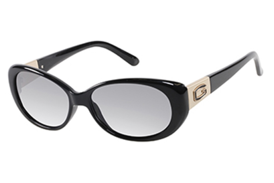 Guess GU 7261 Sunglasses in C95 Blkgld-3: Black