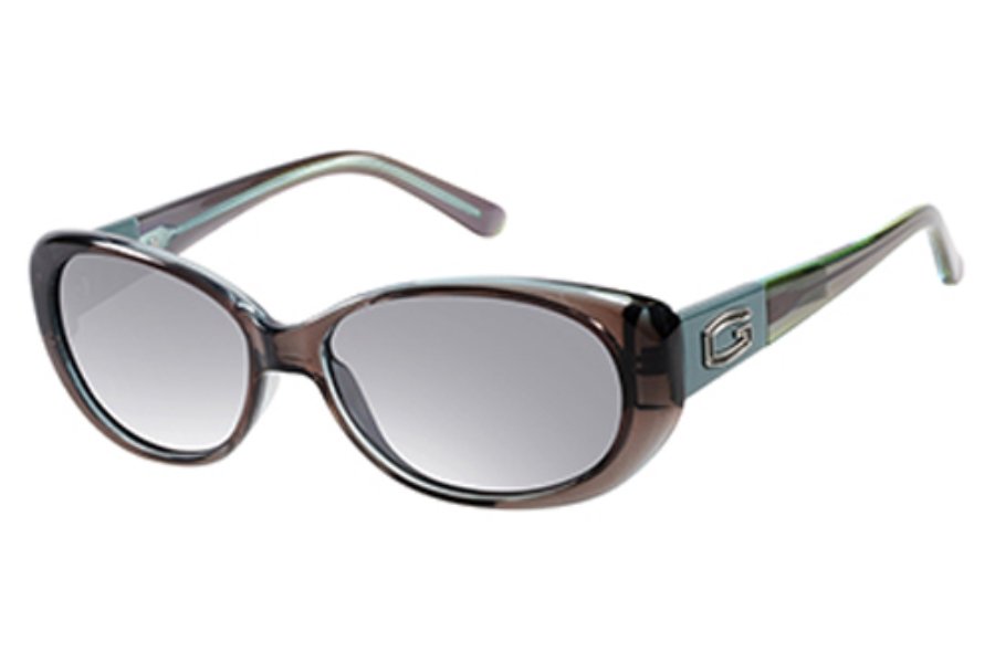 Guess GU 7261 Sunglasses in I75 Gry-3: Grey/Green