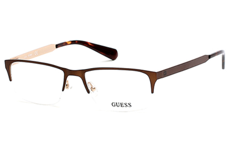 Guess GU 1892 Eyeglasses in 049 - Matte Dark Brown