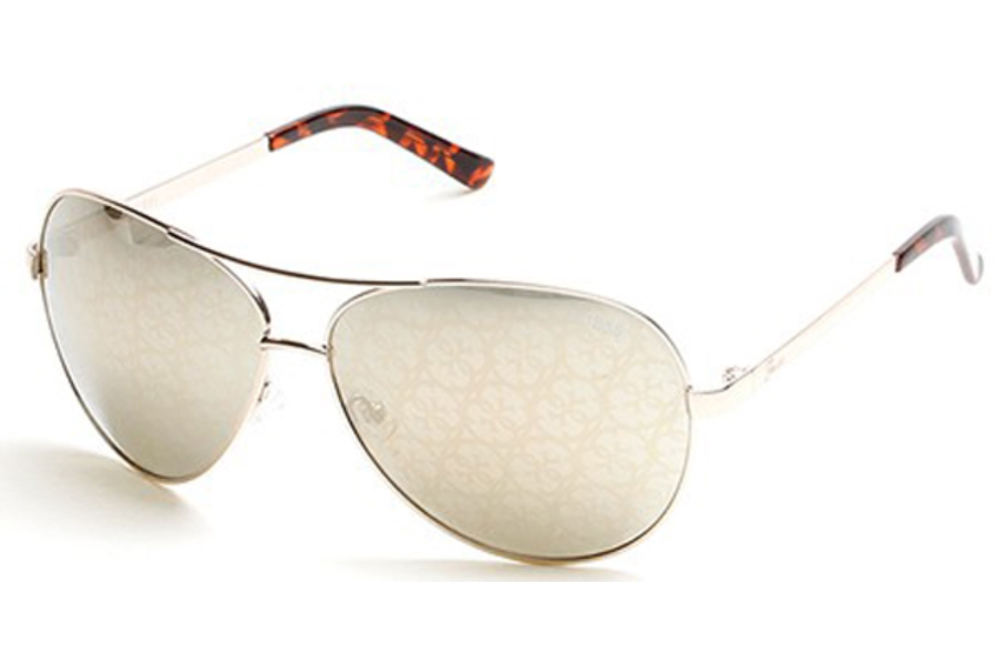 Guess GU 2015 Sunglasses in 32C - Gold / Smoke Mirror