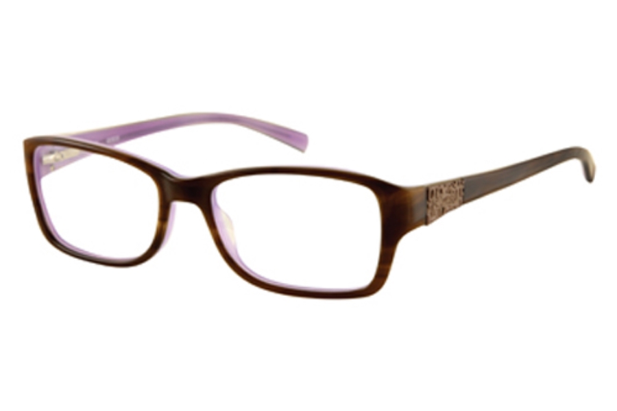 Guess GU 2274 Eyeglasses in AMB: AMBER HORN