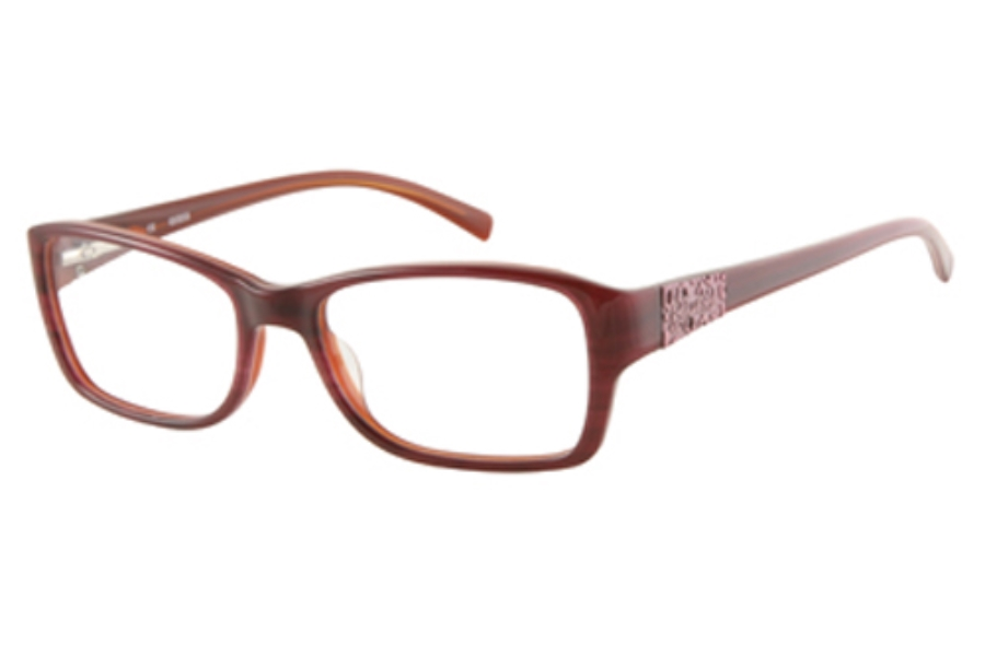 Guess GU 2274 Eyeglasses in BU: BURGUNDY HORN