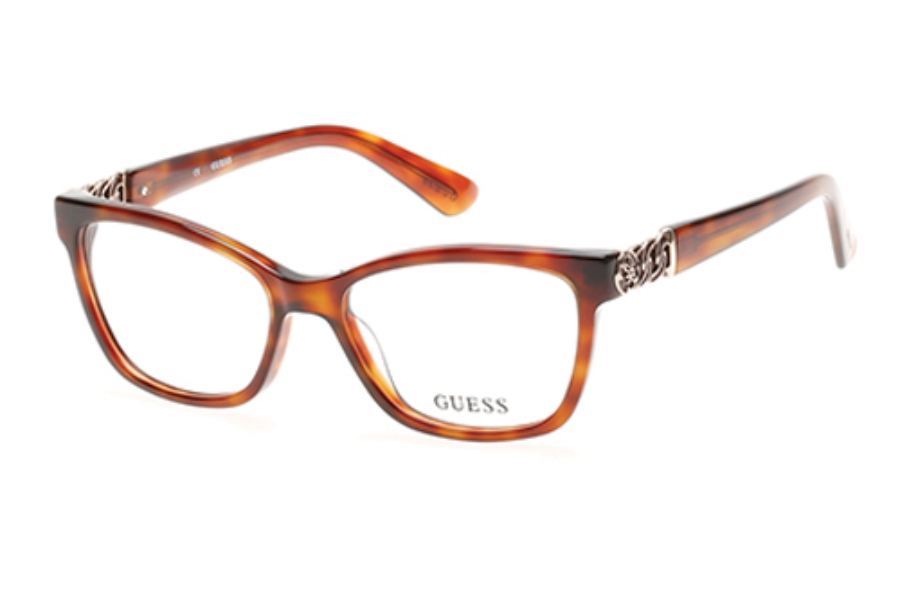 Guess GU 2492 Eyeglasses in 052 - Dark Havana