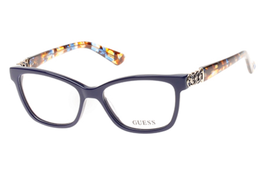 Guess GU 2492 Eyeglasses in 090 - Shiny Blue