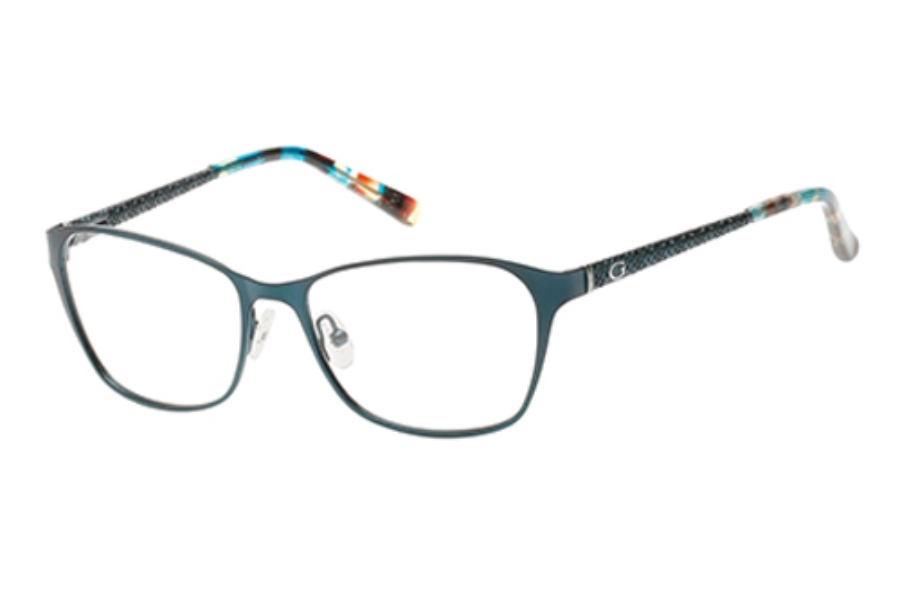Guess GU 2502 Eyeglasses in 088 - Matte Turquoise